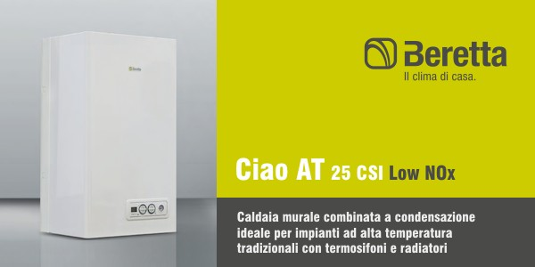 Caldaia beretta ciao at 25 csi in offerta termoidraulica for Consumo caldaia gas