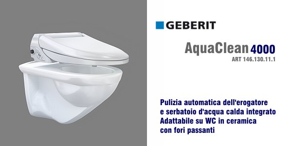 vaso bidet geberit aquaclean 4000 in offerta termoidraulica coico roma. Black Bedroom Furniture Sets. Home Design Ideas
