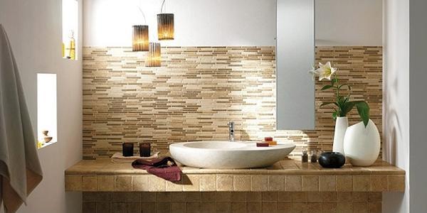 Ceramiche bagno pavimenti e rivestimenti piastrelle - Sanitari bagno beige ...