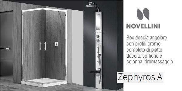 Box doccia Novellini Zephyros con colonna idromassaggio in offerta ...