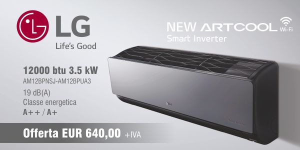 Climatizzatore LG Electronics Smart Inverter Artcool WiFi 12000