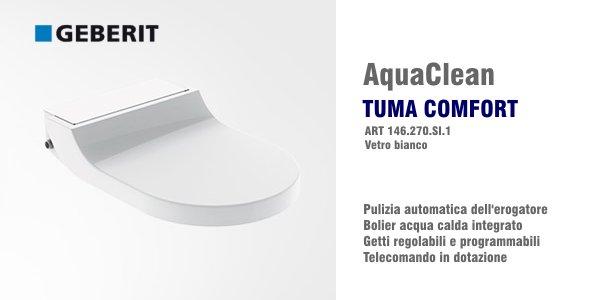 Vaso bidet geberit aquaclean tuma comfort in offerta for Geberit aquaclean prezzo