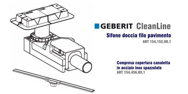 Scarico Doccia A Pavimento Geberit.Sifone Doccia Geberit Cleanline In Offerta Termoidraulica Coico Roma