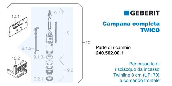 Offerte geberit in vendita a prezzi scontati for Geberit campana completa per cassetta
