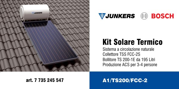 Kit solare termico Junkers A1/TS200/FCC-2