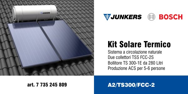 Kit solare termico Junkers A2/TS300/FCC-2