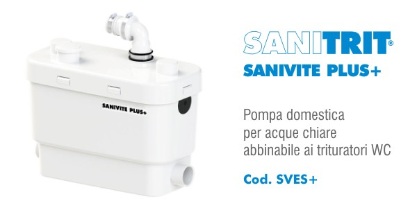 Pompa per acque chiare Sanitrit Sanivite