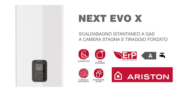 Scaldabagno Ariston Next Evo X