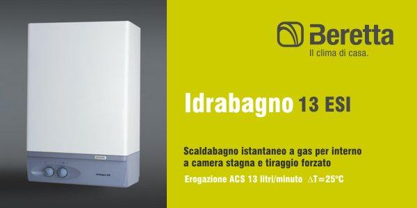 Scaldabagno Beretta Idrabagno 13 ESI