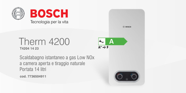 Scaldabagno Bosch Therm 4200 14 Low Nox