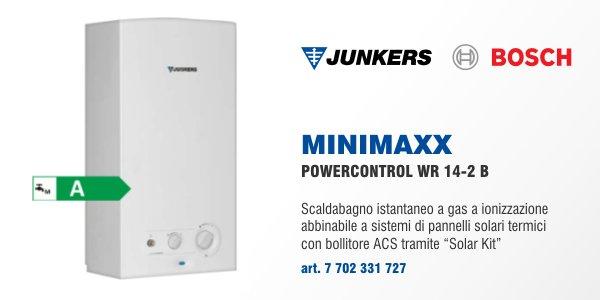 scaldabagno junkers minimaxx powercontrol wr 14 2 b in offerta termoidraulica coico roma On scaldabagno a condensazione prezzi