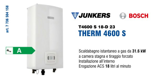 Scaldabagno Junkers Bosch Therm 4600 S 18