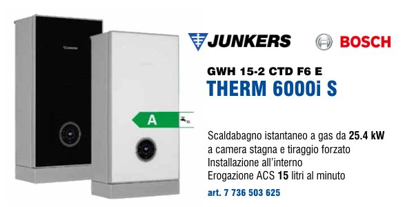 Scaldabagno Junkers Bosch Therm 6000i S