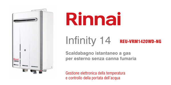 Scaldabagno Rinnai Infinity 14e