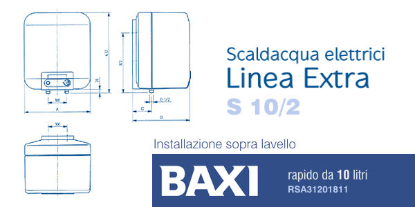 Scaldacqua Elettrico Baxi S 10/2