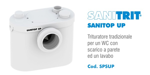 Trituratore per WC Sanitrit Sanitop